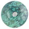 Semi-precious 38-42mm Howlite Turquoise Donut Dyed Yellow